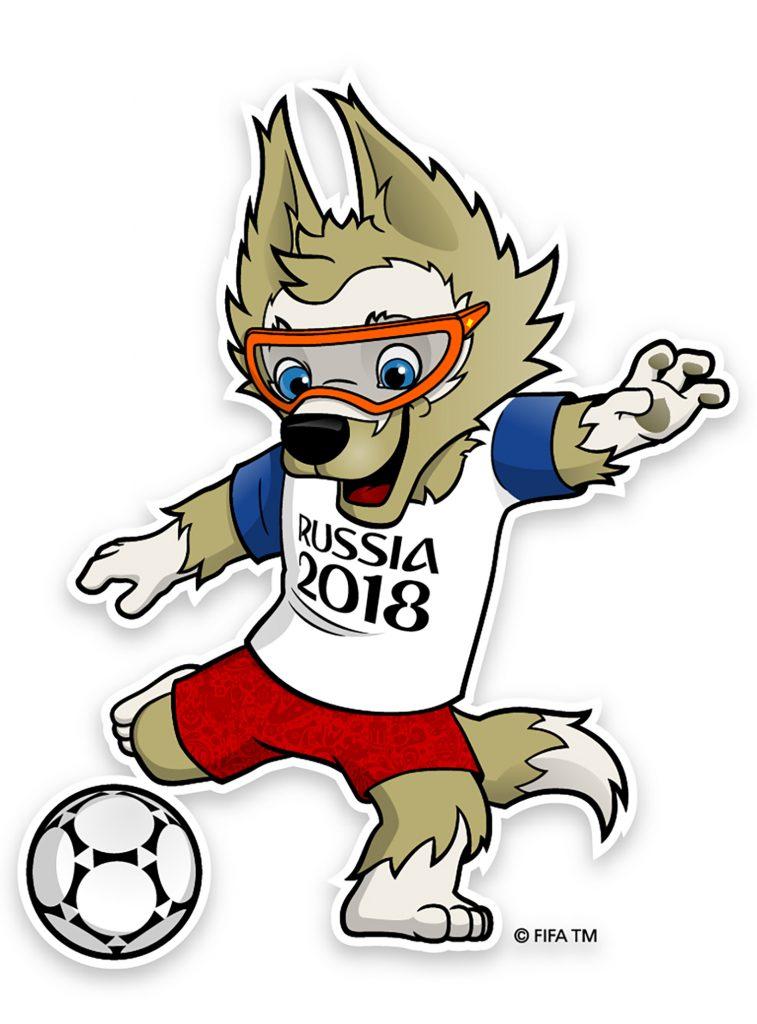 """Die FIFA zeigt das Maskottchen Zabivaka das erste Mal am 22.Oktober 2016 mit dem Namen """"Zabivaka""""."""